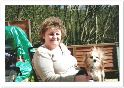 Mum with Barney